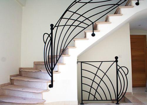 rampe d 39 escalier en fer forg rf36 art of welding pasam. Black Bedroom Furniture Sets. Home Design Ideas