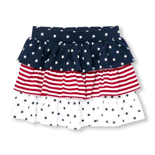 The Childrens Place Baby Girls Americana Skort