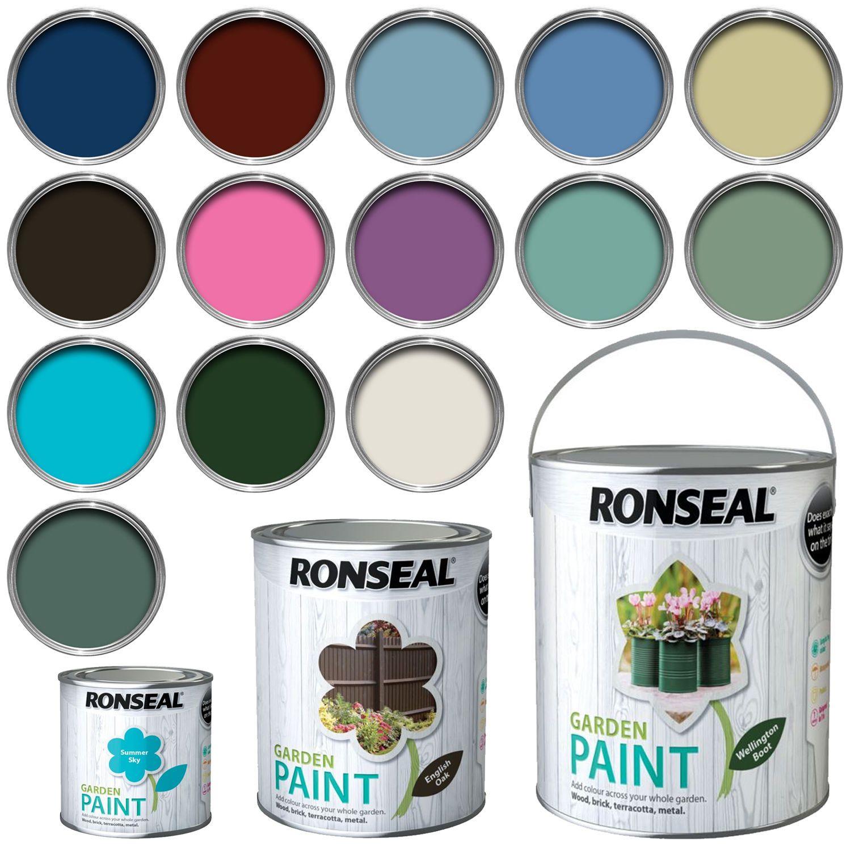 Ronseal Exterior Garden Paint Wood, Brick, Metal, Stone - 250ml ...