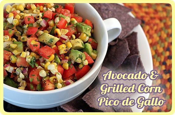 Avocado and Grilled Corn Pico de Gallo