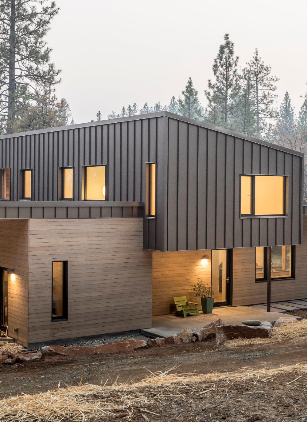 Bridger Steel Bonderized Metal Roofing And Siding Panel Metal Siding House House Cladding Corrugated Metal Siding