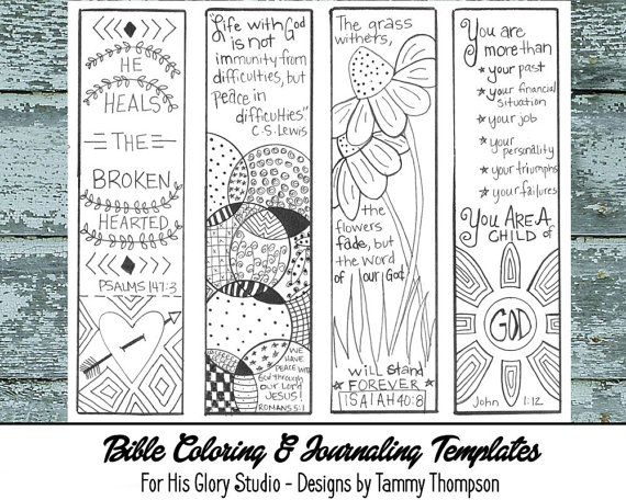 photograph relating to Free Printable Bible Verse Bookmarks to Color titled Pin upon Bible Journaling