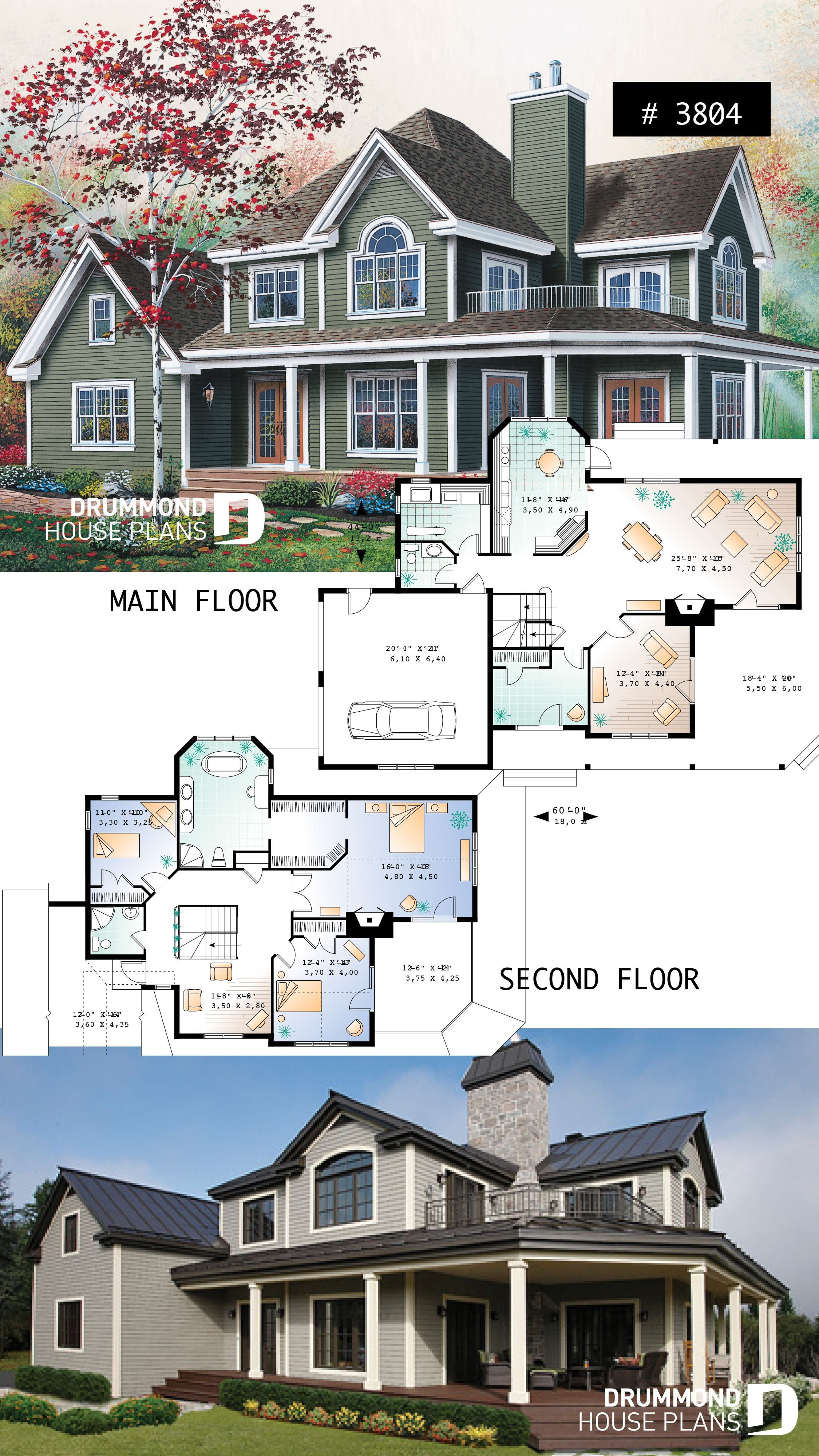 3 To 5 Bedroom Waterfront Cottage House Plan With Wraparound Porch Large Master In 2020 Cottage House Plans House Plans Waterfront Cottage