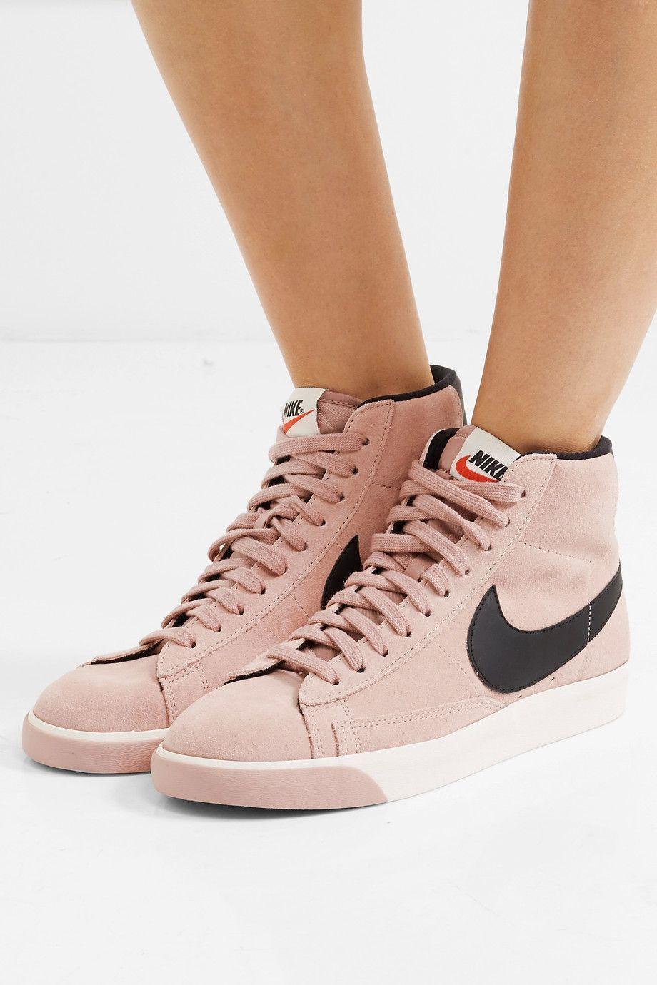 the best attitude 2de85 27cd1 Nike   Vintage Blazer leather-trimmed suede high-top sneakers   NET-A-PORTER .COM