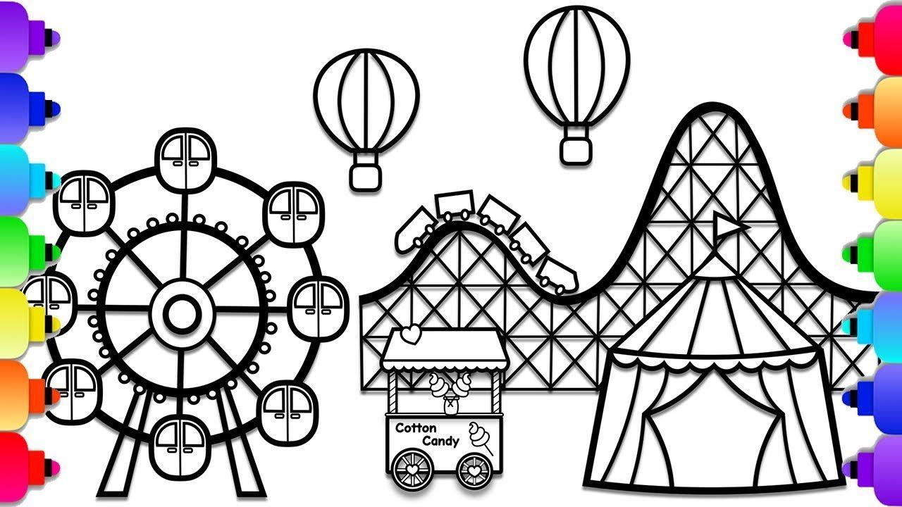 Theme Park Coloring Pages