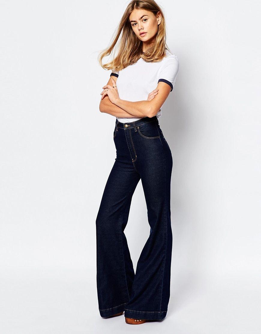 Image 4 of Rollas East Coast High Waist Flare Jeans - Image 4 Of Rollas East Coast High Waist Flare Jeans Weekend