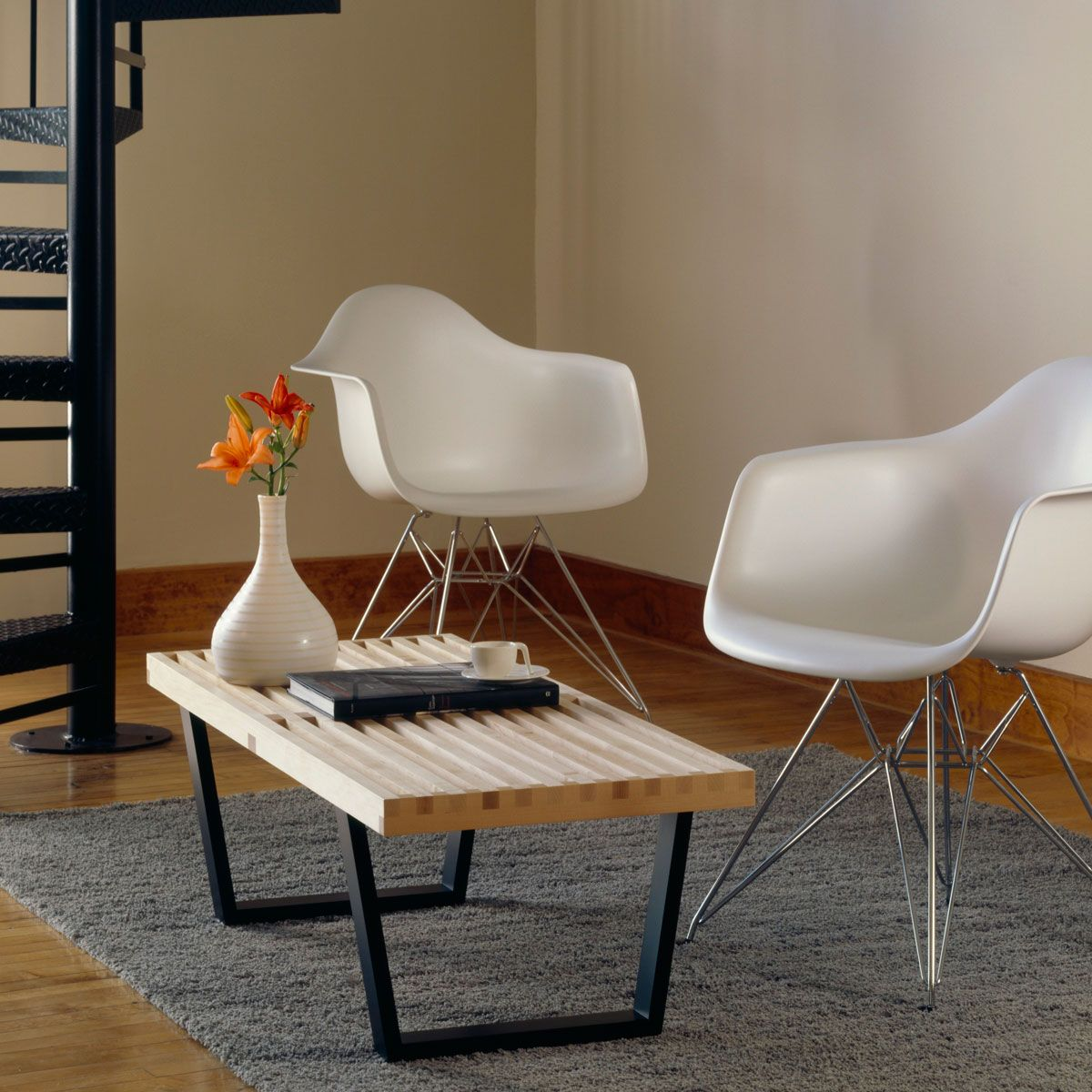 Vitra Nelson Bench. Mid century modern furniture