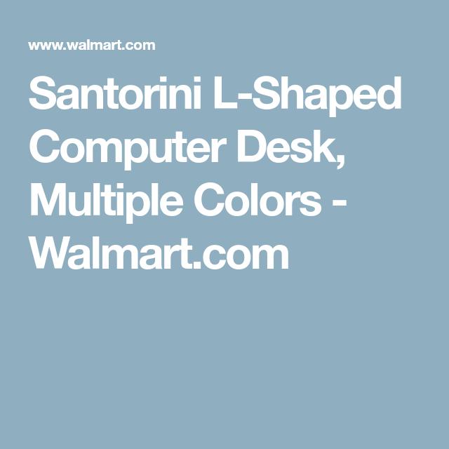 Santorini L Shaped Computer Desk, Multiple Colors   Walmart.com
