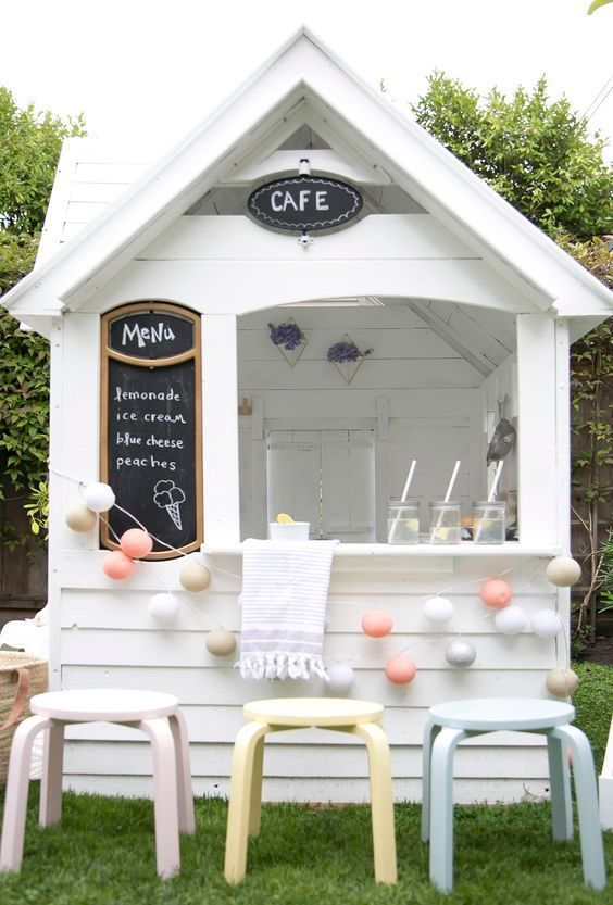 playhouse child friendly interior surfaces | A new chic lemonade stand or adorable playhouse for your ...