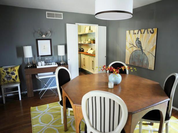 grey and yellow dining room decorating ideas dining rooms on a rh pinterest com decorating ideas for dining rooms on a budget Small Rooms Decorating On a Budget
