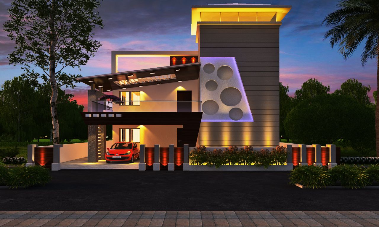Wonderful Ultra Modern Front Elevation Design Part - 3: House · Ultra Modern Boundary Wall Designs ...