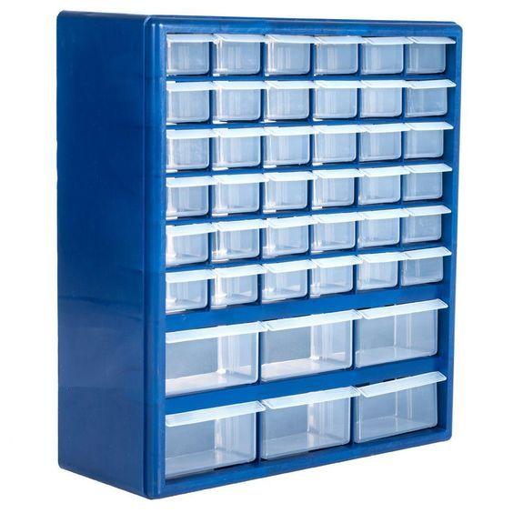 New Storage Cabinet Organizer Box 44 Drawer Bins for Small Parts Hardware Crafts