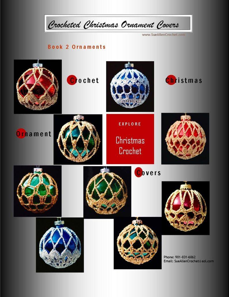 Crochet Christmas Ornament Covers 2 | Etsy