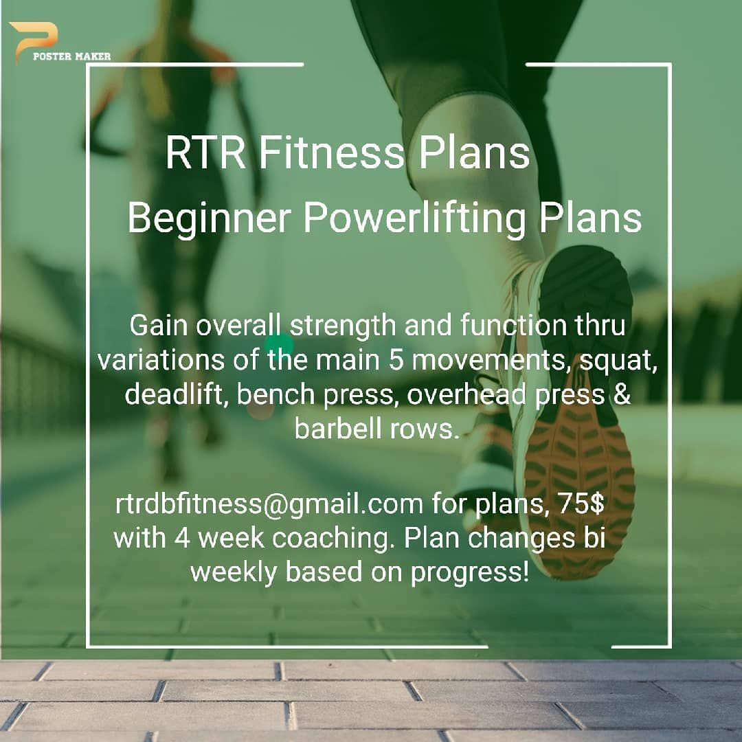 🔥New programs available🔥Beginner Powerlifting Programs🔥These Programs helps you master the basics to...