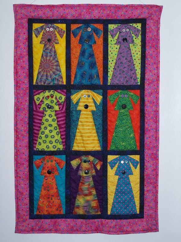 width=600    Janet Nations: I love dogs and bright colors. This is foundation pieced.