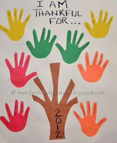 Thankful Handprint Tree