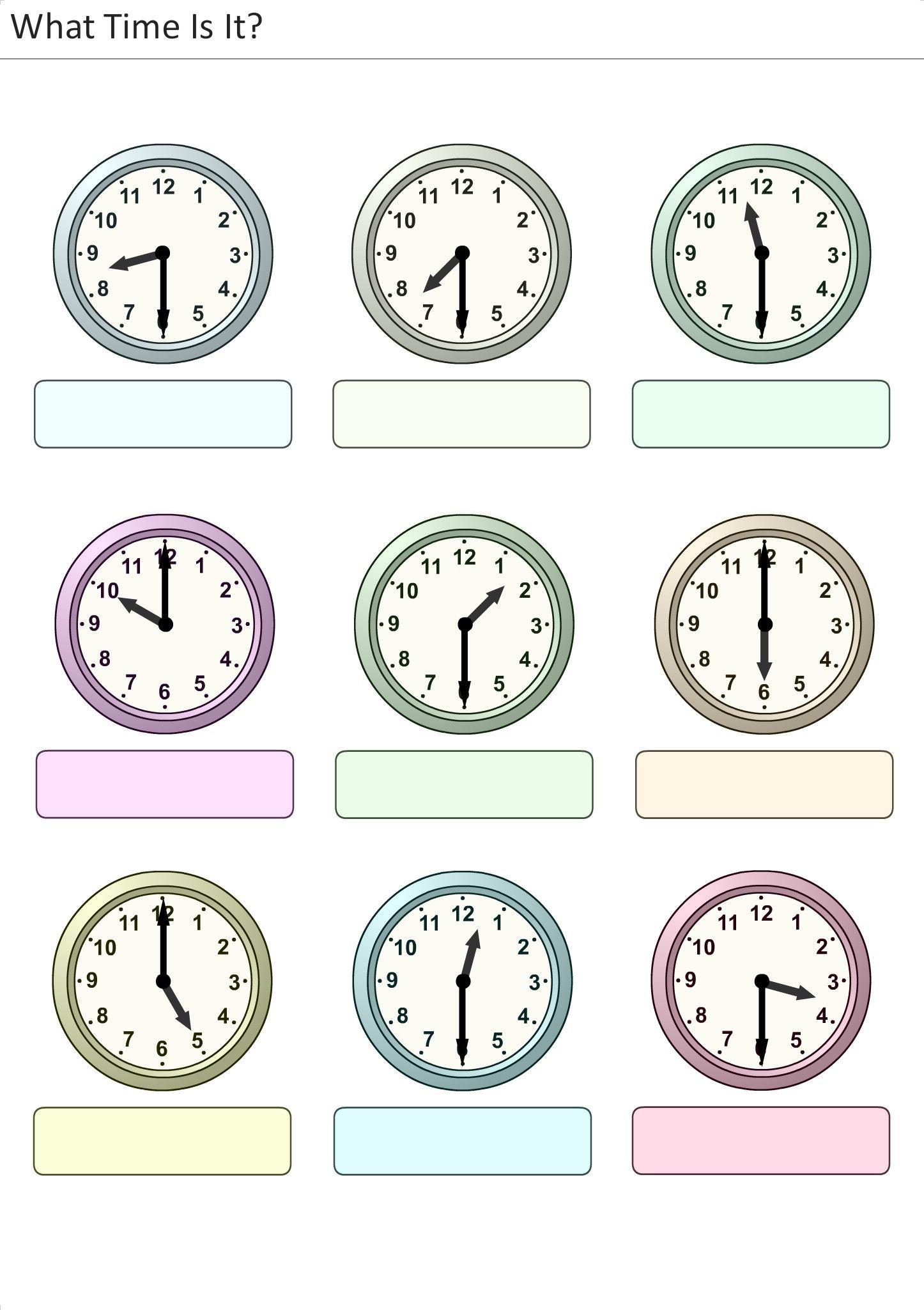Atividades Para Crian 231 As Para Imprimir Que Horas S 227 O 12