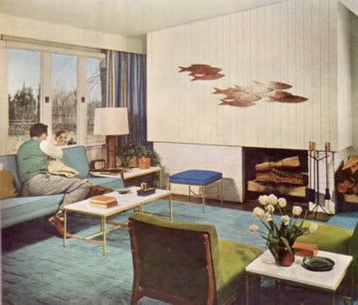House  1950's interior design ...