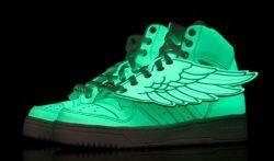 Fashion Adidas Jeremy Scott Wings Glow In The Dark G43736 Dark Shoe Nike Shoes Cheap Running Shoes Nike