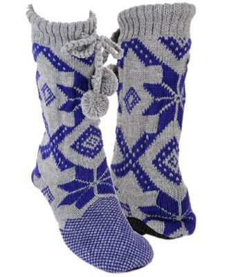 Fair Isle Knitted Slippers - StyleSays | Knit for Linda ...