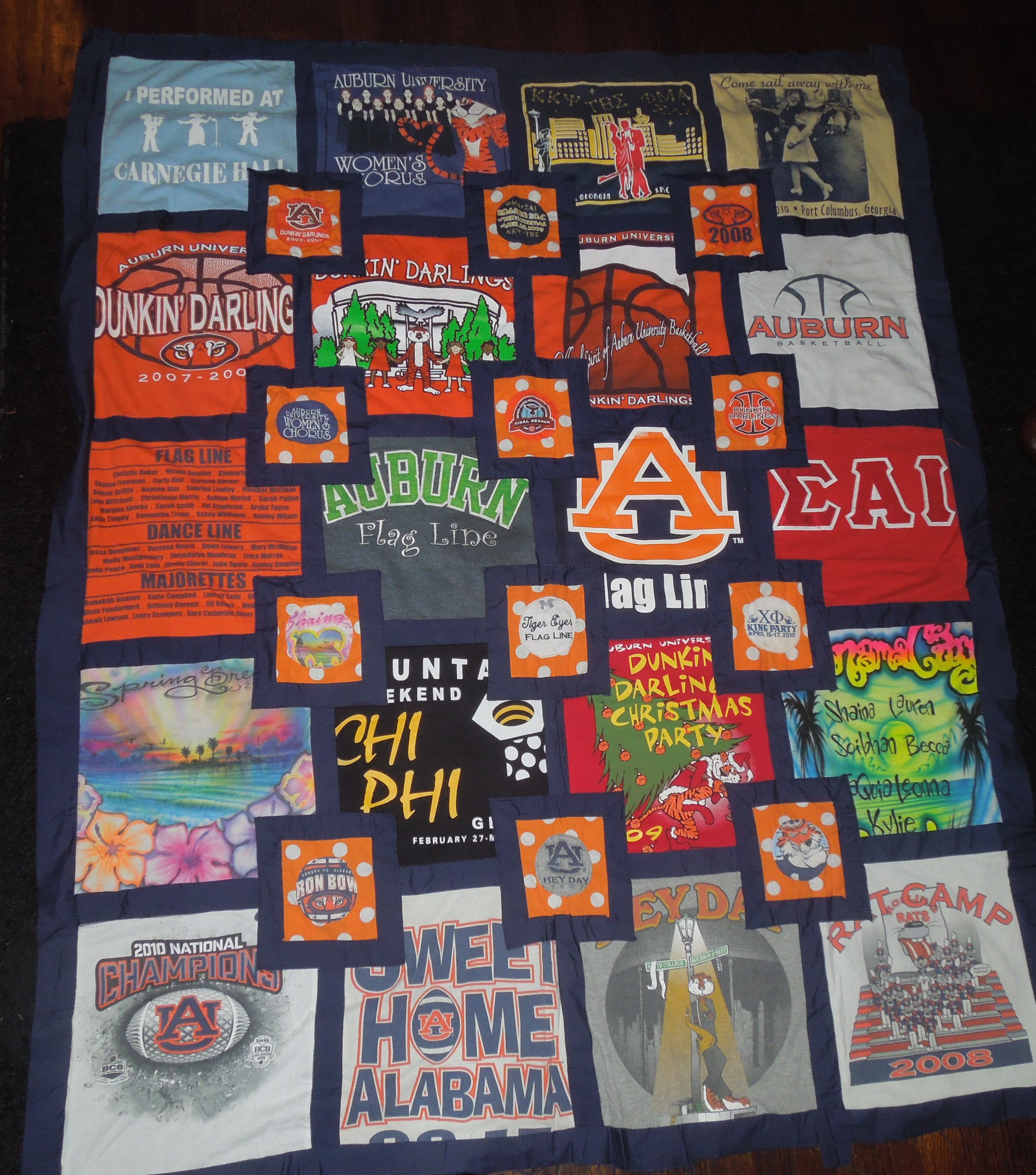 t-shirt quilt, glad I found something to do with all those ADPi/UF ... : pinterest t shirt quilt - Adamdwight.com