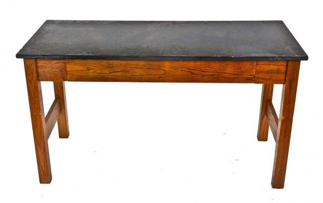 Fully Adjustable C 1960 S American Vintage School Laboratory Stationary Bent Tubular Steel Stool With Siding Backrest Oak Wood Steel Stool Oak