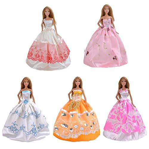 Yiding 5 Pcs Fashion Handmade Clothes Dresses Grows Outfit For Barbie Doll #L Yiding http://www.amazon.com/dp/B00PRZAU1M/ref=cm_sw_r_pi_dp_V5kOub1RBTTRH