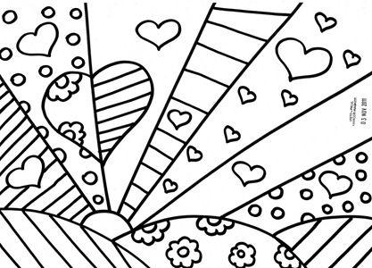 Desenhos do Romero Britto | Atividades para colorir | Color ...