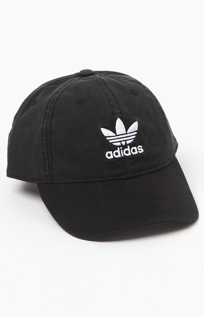 adidas Washed Black Strapback Dad Hat ac4ace5859d