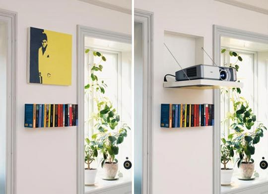 Look Hidden Projector Behind Wall Art For The Home
