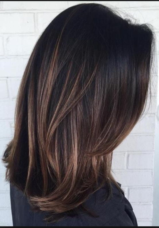 Some Subtle Highlights For My Super Dark Hair Hair Beauty