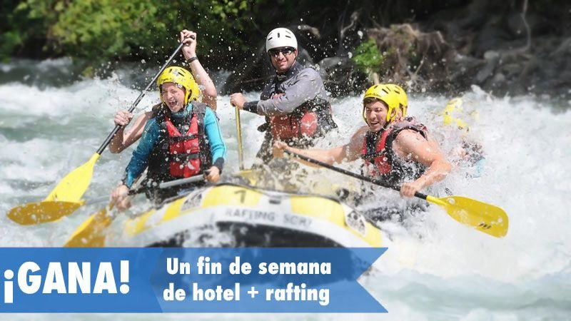 Gana un fin de semana para dos personas de Hotel + Rafting en Sort, Lleida. https://a.cstmapp.com/p/19521