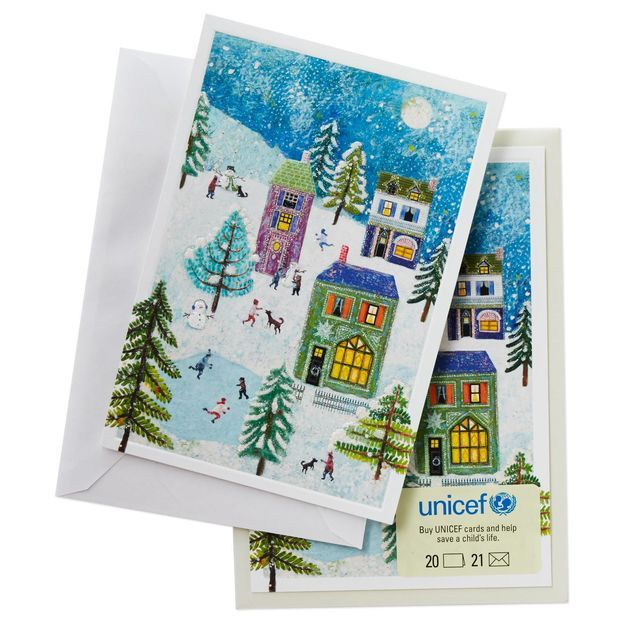 Unicef Christmas Cards.Unicef Holiday Scene Christmas Cards Box Of 20 Christmas