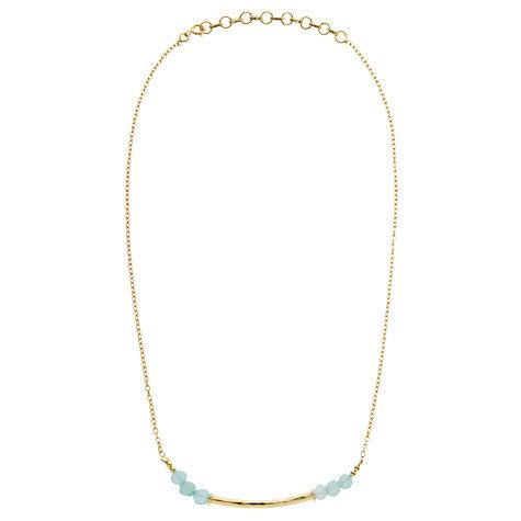 Buy Pomegranate 18ct Gold Plated Labradorite Beaded Bar Necklace Online at johnlewis.com