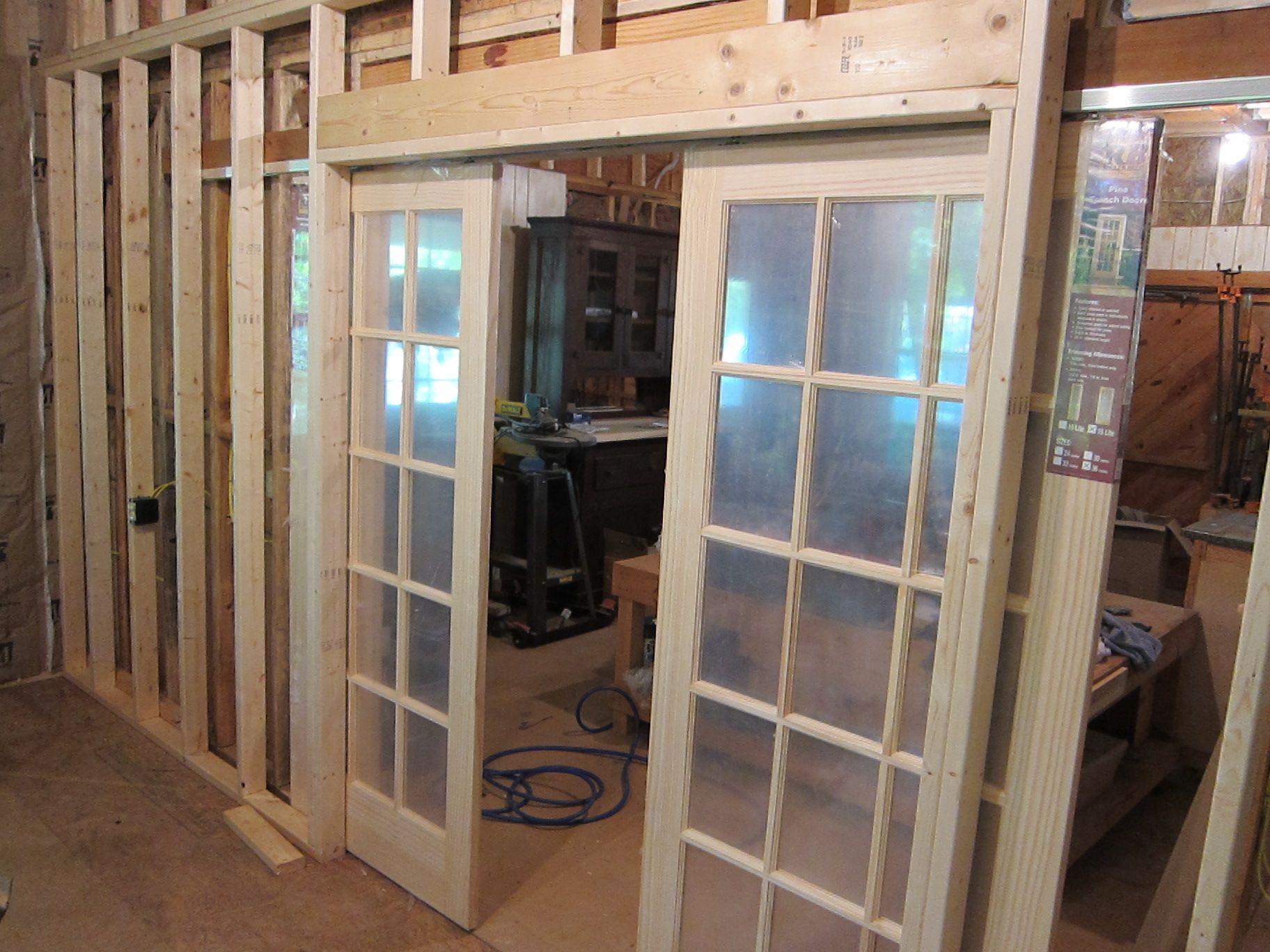 Interior Design Fascinating Interior Pocket French Doors Cabin Wood