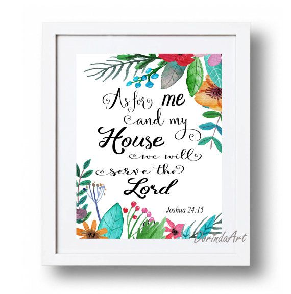 Joshua 24 15 As For Me And My House We Will Serve Lord Watercolor