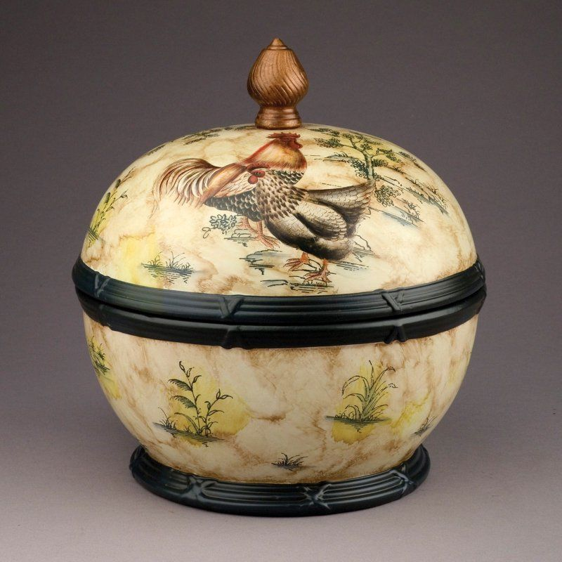 AA Importing Rooster Design Decorative Box with Lid - 58392