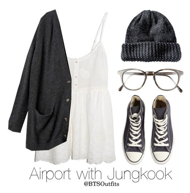 """Airport with Jungkook"" by btsoutfits ❤ liked on Polyvore featuring Spell & the Gypsy Collective, Monki, Converse and Steven Alan"