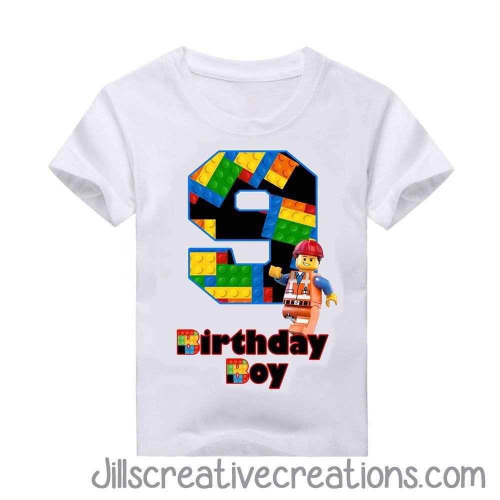 ADD NAME AND AGE TO DESIGN LEGO NINJAGO BIRTHDAY T SHIRT