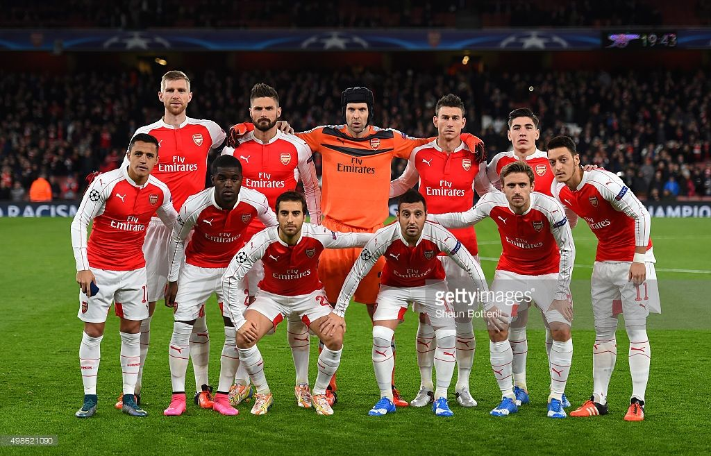 The Arsenal Team Pose For A Photo Prior To The Uefa Champions League Uefa Champions League Champions League Champions League Football