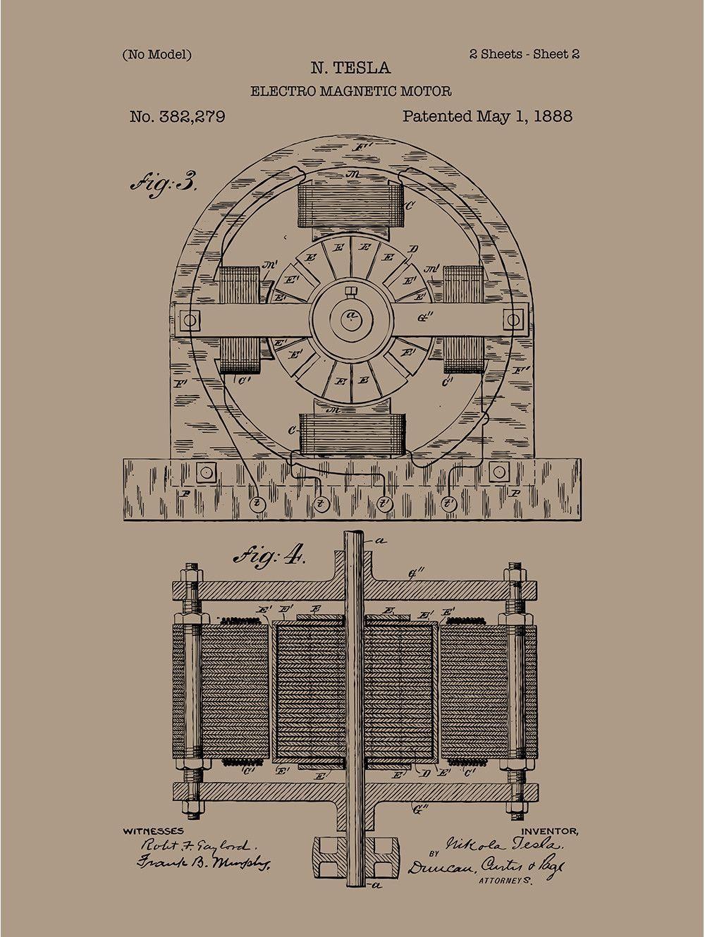 Tesla Electro Magnetic Motor - N. Tesla - 1888   Products ...