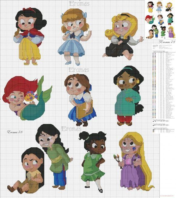 Princesas #Disney | punti de crux | Pinterest | Princesa disney ...