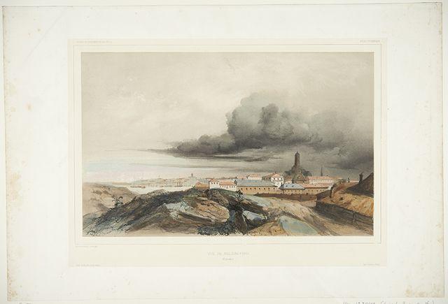 Helsinki; view from Katajanokka Arthus-Bertrand. 1842 - 1852