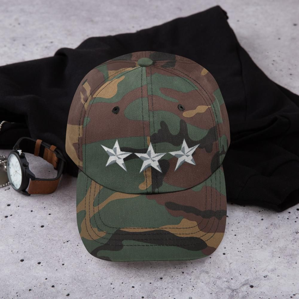 e791ffca Green Camo 3 Star General Style, Dad hat Unisex in 2019 | Snapback ...