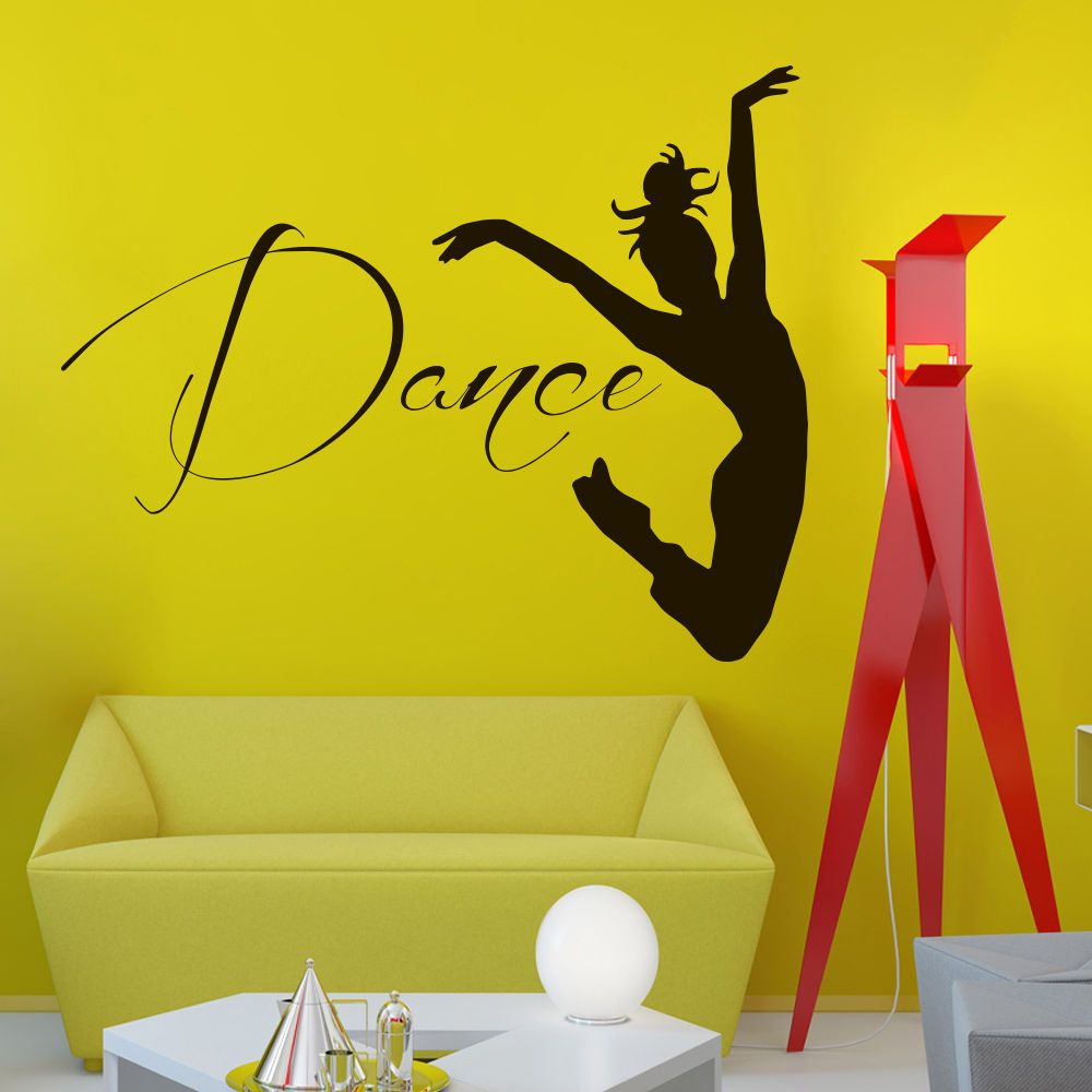 Wall Vinyl Decals Dancer Decal Home Dance Studio Decor Mural Sticker ...