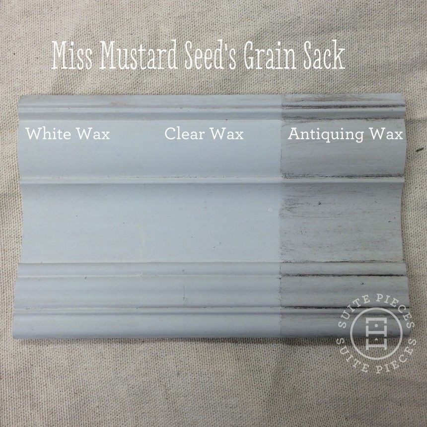 Miss Mustard Seeds Milk Paint With Antiquing Wax White And Clear