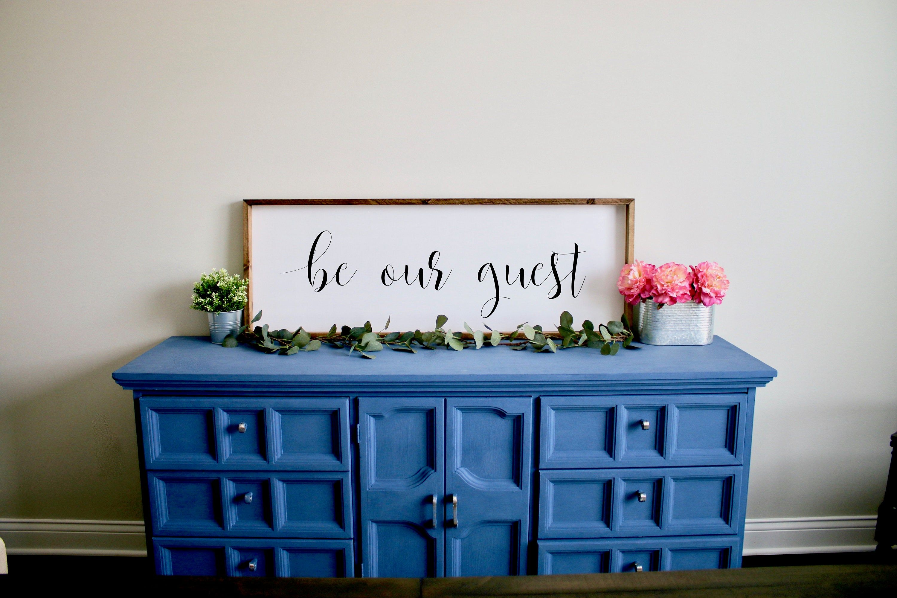 Guest room decor be our guest sign framed sign home