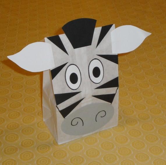 Zebra Treat Sacks Jungle Zoo Safari Theme Birthday by jettabees