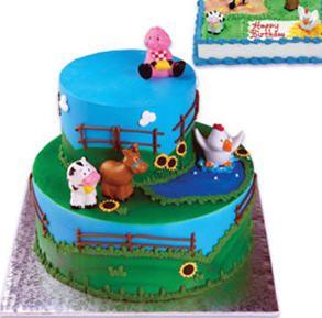 Animal Cake Ideas Farm Animals Themed Cake Toppers Farm Animal