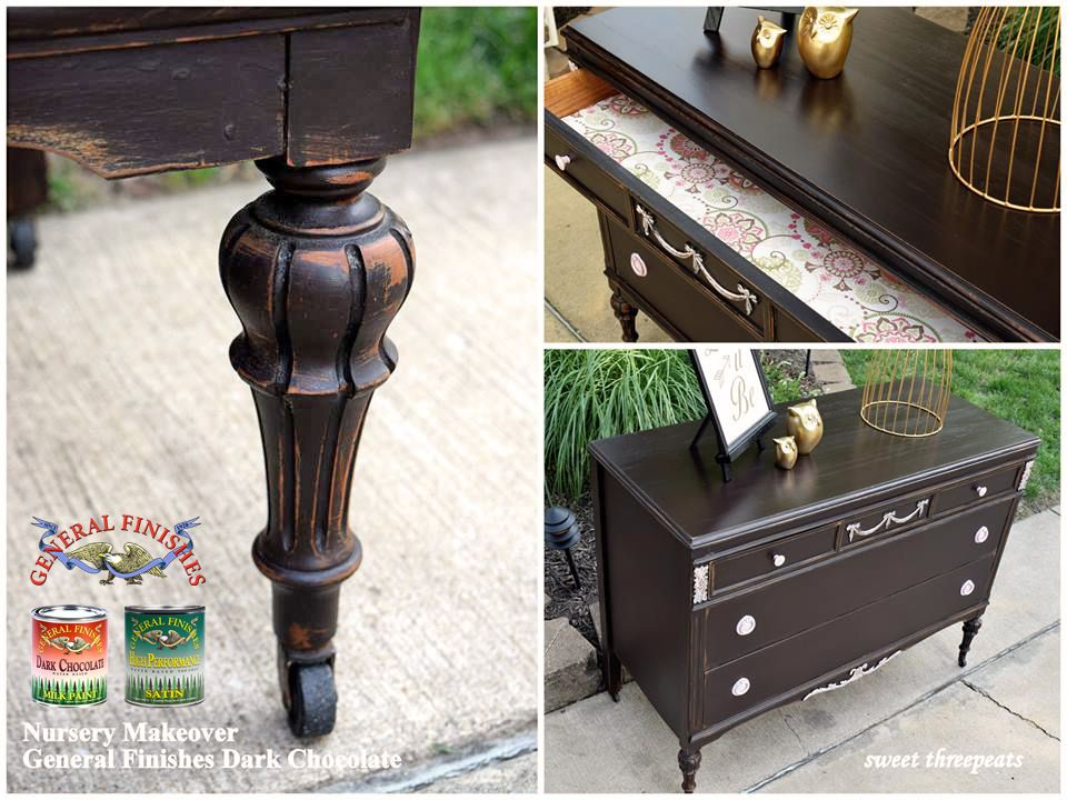 Pin On Painted Furniture Ideas Diy, Dark Brown Chalk Paint Furniture